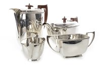 Lot 804 - A SILVER FOUR PIECE TEA AND COFFEE SERVICE