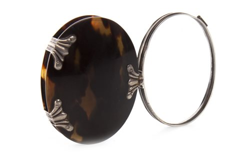 Lot 815-A TORTOISESHELL AND SILVER MOUNTED MAGNIFYING GLASS