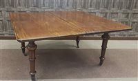 Lot 919-A MAHOGANY EXTENDING DINING TABLE