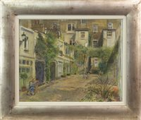 Lot 74-A LONDON MEWS, A PASTEL ON PAPER BY ANTHONY ARMSTRONG