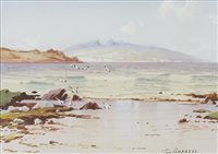 Lot 501-IONA, A WATERCOLOUR BY TOM CAMPBELL
