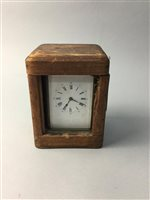 Lot 7-A LATE VICTORIAN CARRIAGE TIMEPIECE