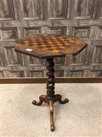 Lot 927-A VICTORIAN ROSEWOOD GAMES TABLE