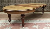 Lot 925-A VICTORIAN MAHOGANY EXTENDING DINING TABLE