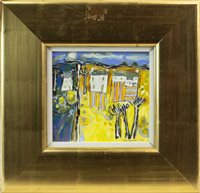 Lot 25-YELLOW LANDSCAPE, AN ORIGINAL OIL BY CHARLES ANDERSON