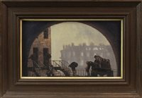 Lot 23-COALMEN HEAVING COALS, AN OIL ON BOARD BY GEOFFREY ROPER