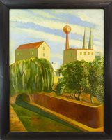 Lot 26-AFTERNOON IN BERLIN, AN OIL ON CANVAS BY MARTIN KANE
