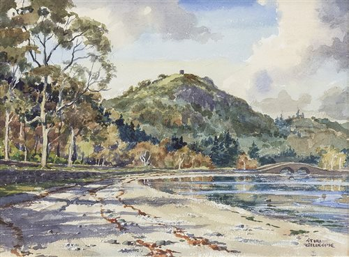 Lot 465-INVERARY BRIDGE, A WATERCOLOUR BY STIRLING GILLESPIE