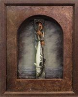 Lot 41-TIONNDAH NA TIDE-MHARA (TURN THE TIDE), A MIXED MEDIA ASSEMBLAGE BY DOUGLAS ROBERTSON