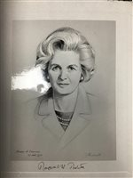 Lot 13-A SIGNED PHOTOGRAPH OF A SKETCH OF MARGARET THATCHER