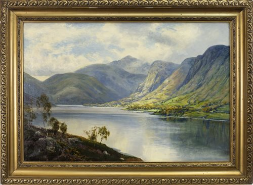 Lot 469-LOCH SCENE, BY GEORGE MELVIN RENNIE