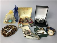 Lot 5-AMENDMENT -  LOT OF COSTUME JEWELLERY INCLUDING SILVER ITEMS