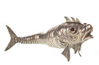 Lot 824 - AN IMPRESSIVE SPANISH SILVER ARTICULATED FISH