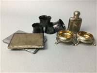 Lot 17-A SILVER HIP FLASK AND OTHER SILVER ITEMS