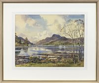 Lot 530-BEN LOMOND FROM DUCK BAY, A WATERCOLOUR BY STIRLING GILLESPIE