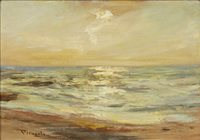 Lot 481 - EVENING LIGHT, AN OIL ON CANVAS BY SIR JAMES LAWTON WINGATE