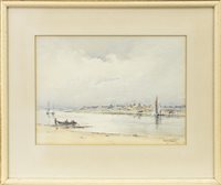 Lot 473-COASTAL SCENE, A WATERCOLOUR BY DAVID WEST