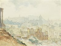 Lot 476-EDINBURGH FROM CALTON, A WATERCOLOUR BY ROBERT EADIE