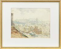 Lot 476 - EDINBURGH FROM CALTON, A WATERCOLOUR BY ROBERT EADIE