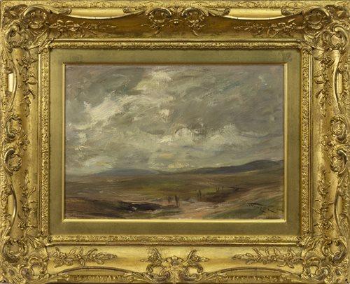 Lot 482-ARRAN, AN OIL ON CANVAS BY SIR JAMES LAWTON WINGATE