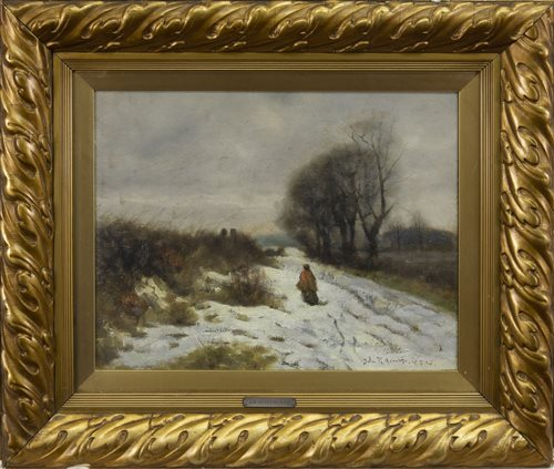 Lot 468-THE DUKE'S ROAD, NEAR HAMILTON, AN OIL BY JAMES RENNIE MACKENZIE HOUSTON