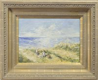 Lot 490-PICNIC ON THE BENTS, AN OIL BY ROBERT GEMMELL HUTCHISON