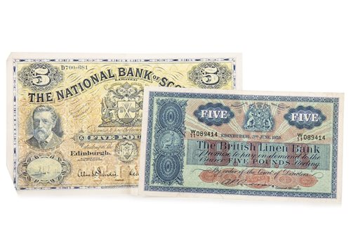 Lot 502-TWO BRITISH 1950S BANKNOTES
