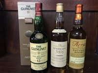 Lot 3-GLENLIVET AGED 12 YEARS, ARRAN FOUNDER'S RESERVE & SYNDICATE 58/6 12 YEARS OLD