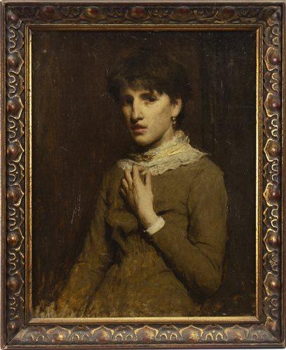 Lot 491-PORTRAIT OF A WOMAN