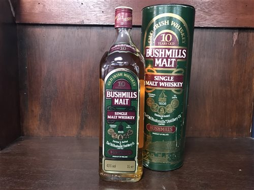 Lot 14-BUSHMILLS 10 YEARS OLD ONE LITRE