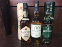Lot 16-MILTONDUFF 12 YEARS OLD, GLEN DEVERON 1980 AGED 12 YEARS & HOUSE OF COMMONS 8 YEARS