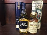 Lot 18-GLEN MORAY 1993 12 YEARS OLD & GLEN MORAY NAS