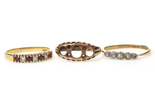 Lot 22-THREE GOLD RINGS