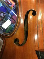 Lot 1402-A MID-19TH CENTURY VIOLIN BEARING LABEL FOR JEAN-BAPSTISTE VUILLAUME