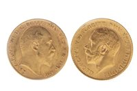 Image for TWO GOLD HALF SOVEREIGNS, 1910 AND 1914