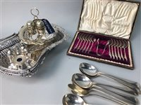Lot 8-LOT OF SILVER PLATE
