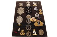 Lot 949-A BOARD OF MOSTLY SCOTTISH CAP BADGES