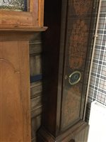 Lot 1404-AN 18TH CENTURY MARQUETRY AND WALNUT CLOCK
