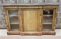 Lot 953-A VICTORIAN WALNUT AND MARQUETRY CREDENZA