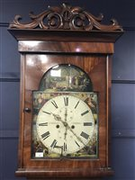 Lot 1405-A 19TH CENTURY SCOTTISH LONGCASE CLOCK BY J CAMERON & SON OF KILMARNOCK
