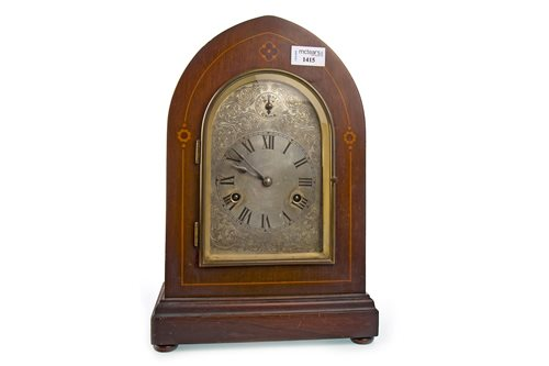 Lot 1415-A MAHOGANY MANTEL CLOCK