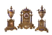 Lot 1410-A VICTORIAN CLOCK GARNITURE