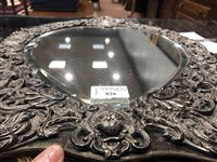 Lot 826 - AN IMPRESSIVE VICTORIAN SILVER HEART SHAPED MIRROR