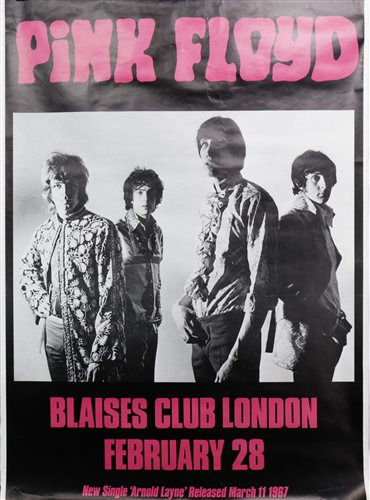Lot 967-A PINK FLOYD PROMOTIONAL POSTER