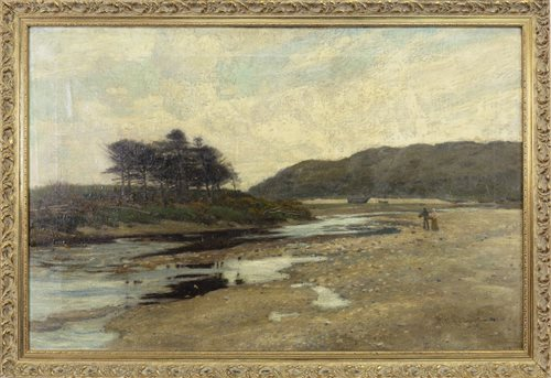 Lot 496-LANDSCAPE, AN OIL ON CANVAS BY ROBERT McGOWN COVENTRY