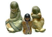 Lot 1214-A LOT OF THREE LLADRO FIGURES