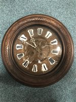 Lot 1412-A FRENCH CIRCULAR WALL CLOCK