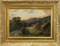 Lot 499-A PAIR OF BUCOLIC SCENES, WITH CATTLE AND FIGURES, BY WILLIAM SCOTT MYLES