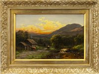 Lot 499 - A PAIR OF BUCOLIC SCENES, WITH CATTLE AND FIGURES, BY WILLIAM SCOTT MYLES