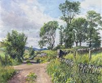 Lot 466 - OLD DUNDEE - BLAIRGOWRIE RAILWAY LINE, AN ORIGINAL WATERCOLOUR BY JAMES MCINTOSH PATRICK